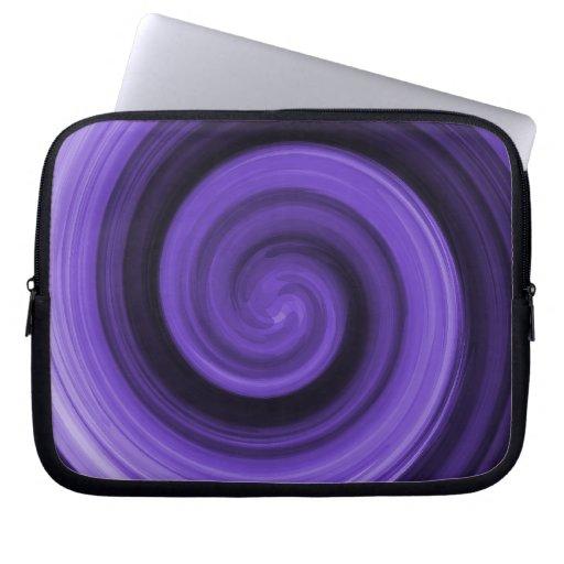 Manga púrpura de la electrónica de Whirly Fundas Computadoras