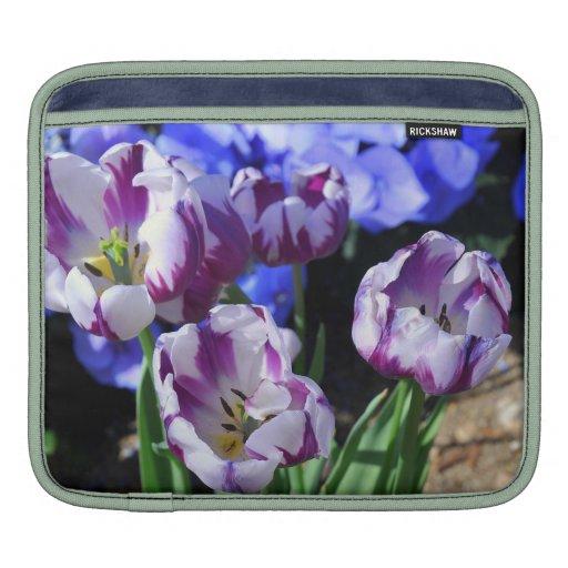 Manga púrpura del carrito de los tulipanes manga de iPad