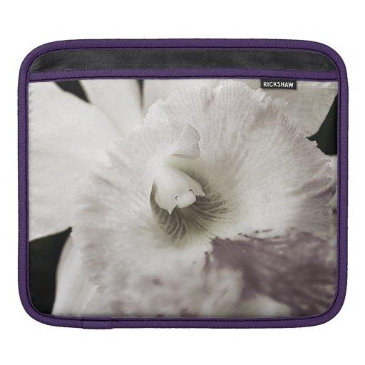 Manga púrpura del iPad de la orquídea Fundas Para iPads