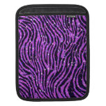 Manga púrpura del iPAD del estampado de zebra Fundas Para iPads