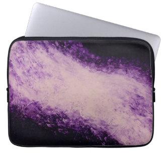 Manga púrpura del ordenador portátil de la fundas portátiles