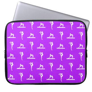 Manga púrpura del ordenador portátil de la gimnasi funda computadora