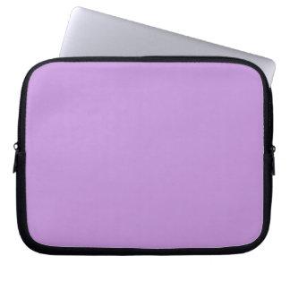 Manga púrpura del ordenador portátil de la lavanda fundas ordendadores