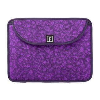 Manga púrpura floral de la aleta de Macbook del Fundas Para Macbook Pro