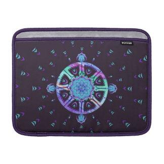 Manga púrpura y azul de la rueda de Dharma de MacB Funda MacBook