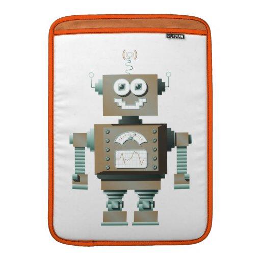 Manga retra de MacBook del robot del juguete (lt) Fundas Para Macbook Air