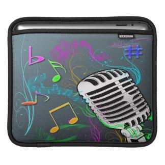 Manga retra del iPad del carrito de la música Funda Para iPads
