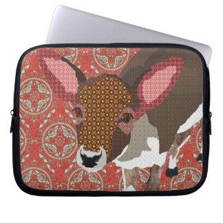 Manga retra roja del ordenador de los ciervos quer fundas computadoras