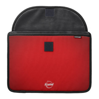 Manga roja de MacBook Pro del logotipo de Krystal Fundas Para Macbook Pro
