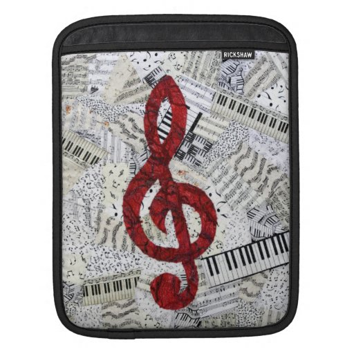 Manga roja del iPad de la música del Clef agudo Mangas De iPad
