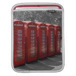 Manga roja del iPad de las cabinas de teléfonos de Fundas Para iPads