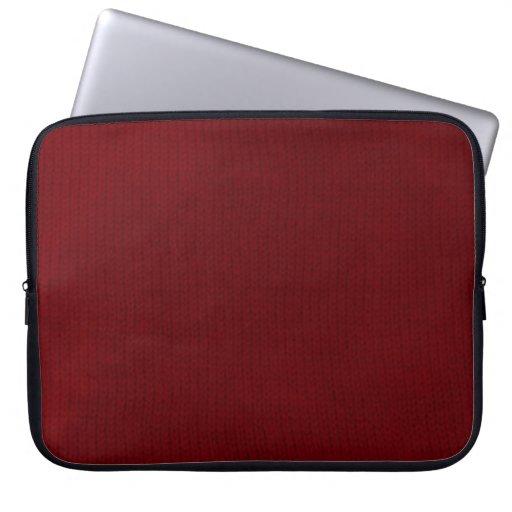 Manga roja del ordenador portátil de Stockinette Fundas Portátiles
