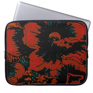 Manga roja del ordenador portátil del diseño flora mangas computadora