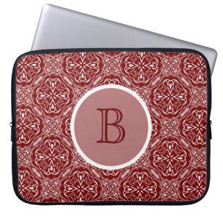 Manga roja del ordenador portátil del monograma mangas computadora