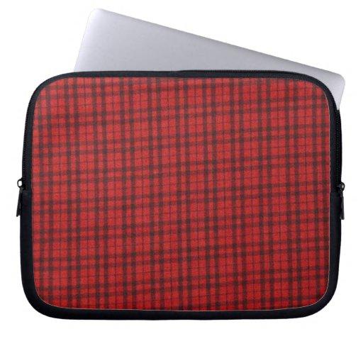 Manga roja escocesa del ordenador portátil de la t funda portátil