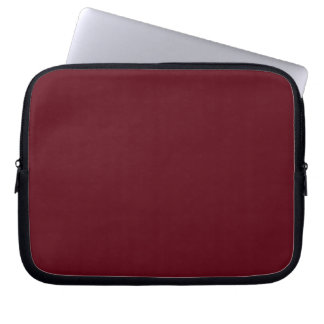 Manga roja marrón del ordenador portátil de Burgen Funda Computadora