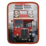 Manga roja roja del iPad del autobús de Londres Fundas Para iPads