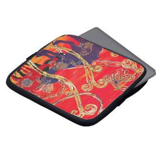 Manga roja y azul del ordenador portátil de los ca funda ordendadores