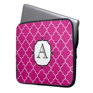 Manga rosada brillante del ordenador portátil del  funda ordendadores