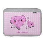 Manga rosada de Macbook de los diamantes Funda MacBook