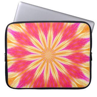 Manga rosada del ordenador portátil de la flor del manga computadora