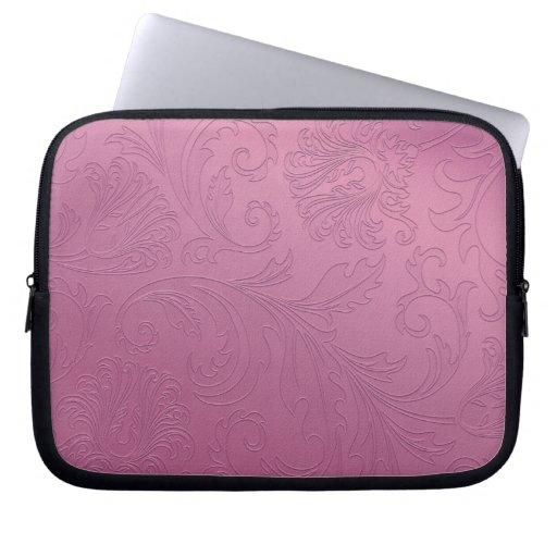 Manga rosada del ordenador portátil de la hoja flo manga computadora