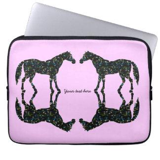 Manga rosada del ordenador portátil de las reflexi funda computadora