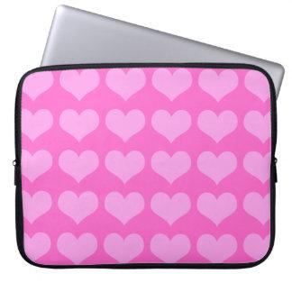 manga rosada del ordenador portátil de los corazon fundas computadoras