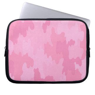 Manga rosada del ordenador portátil del camuflaje funda computadora