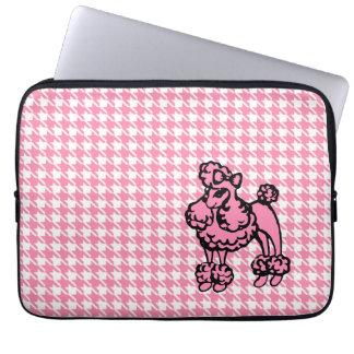 Manga rosada del ordenador portátil del caniche funda portátil
