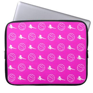 Manga rosada del ordenador portátil del modelo del funda ordendadores
