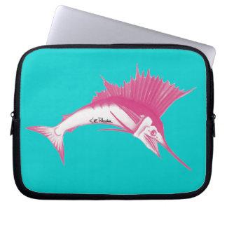 Manga rosada del ordenador portátil del pez volado funda ordendadores