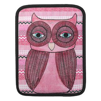 Manga rosada enrrollada de la cubierta del ejemplo funda para iPads