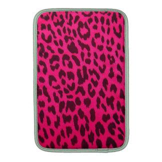 Manga rosada llana del carrito del estampado leopa fundas MacBook