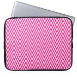 Manga rosada y blanca del ordenador portátil del g funda portátil