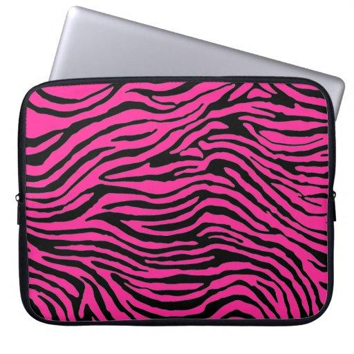 manga rosada y negra del ordenador portátil de la  fundas portátiles