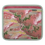 Manga rosada y verde del iPad Fundas Para iPads