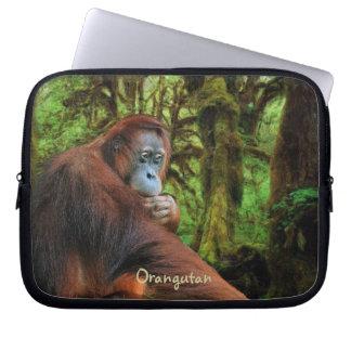 Manga salvaje del ordenador portátil del orangután fundas ordendadores