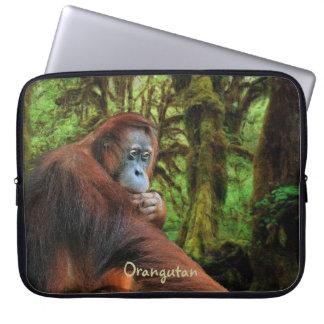 Manga salvaje del ordenador portátil del orangután funda computadora