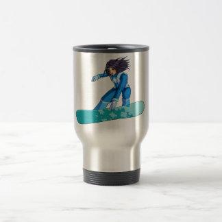 Manga Snowboarder Girl Travel Mug