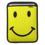 Manga sonriente del carrito de la cara fundas para iPads