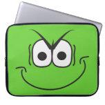 Manga sonriente del ordenador portátil de la cara  manga computadora