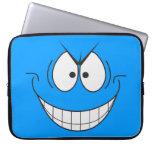 Manga sonriente del ordenador portátil de la cara  mangas portátiles