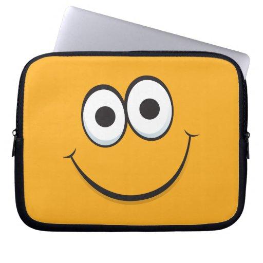 Manga sonriente del ordenador portátil de la cara  manga portátil