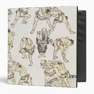 Manga: studies of gestures and postures of wrestle binders