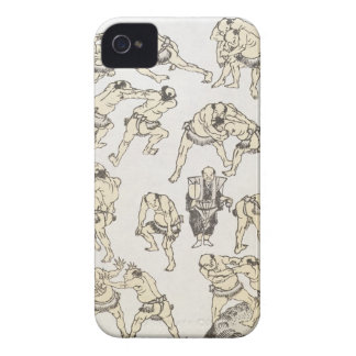 Manga: studies of gestures and postures of wrestle iPhone 4 case