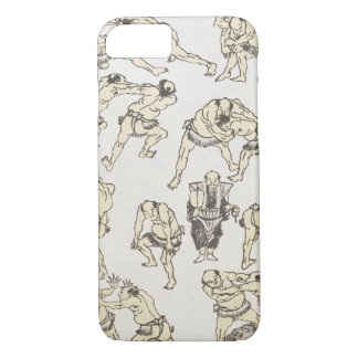 Manga: studies of gestures and postures of wrestle iPhone 7 case