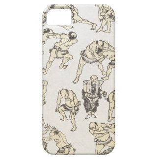 Manga: studies of gestures and postures of wrestle iPhone SE/5/5s case