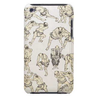 Manga: studies of gestures and postures of wrestle iPod touch case