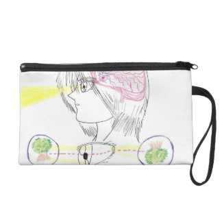 Manga Style Basic Eye Sight Diagram Wristlet Bag